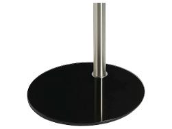 Cavus Voet 37cm rond zwart glas