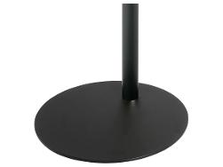 Cavus Voet 53cm rond zwart staal